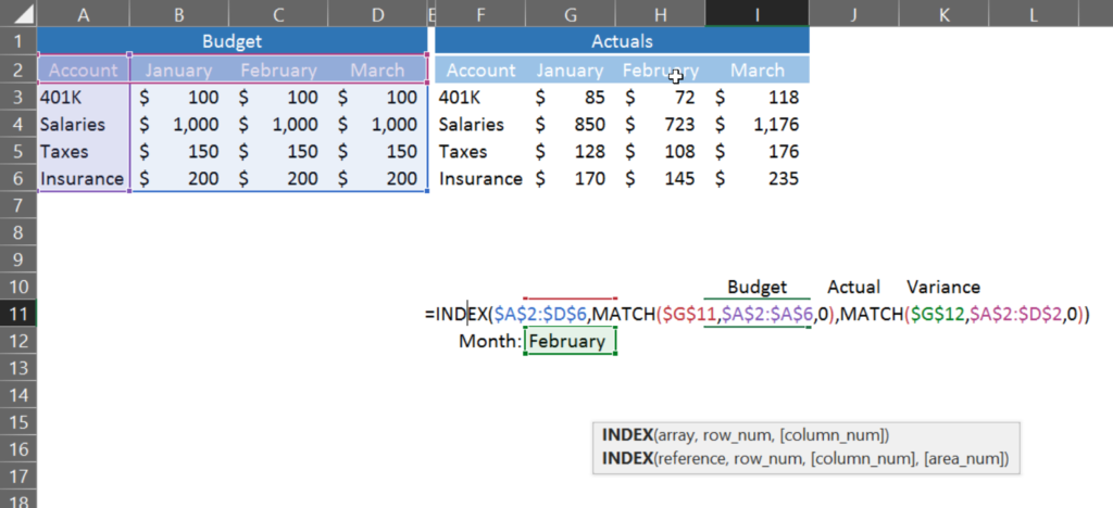 Index Match Excel