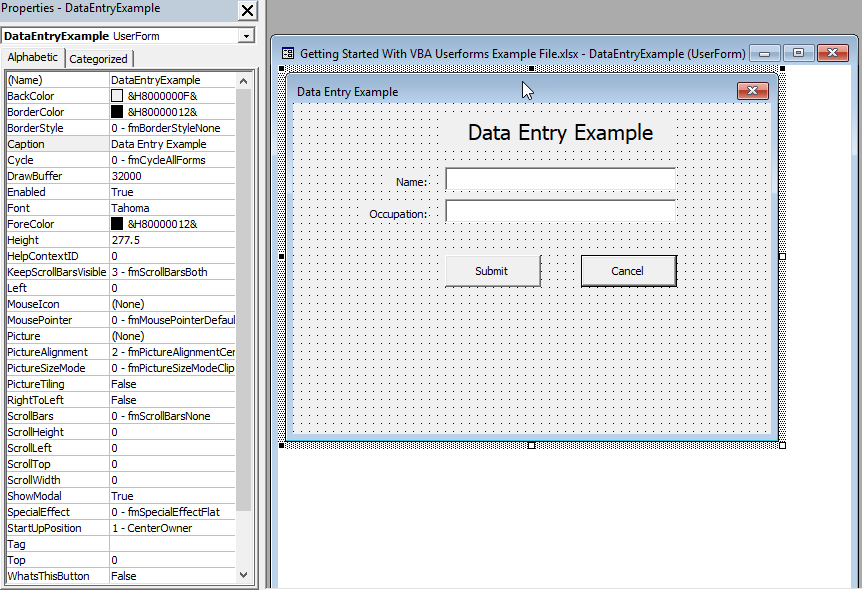 Getting Started With VBA UserForms | Excelerator Solutions
